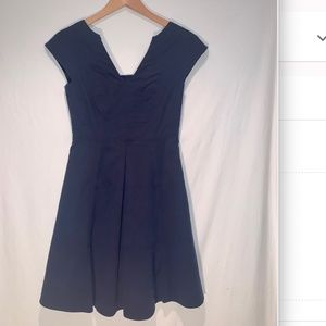Nanette Lepore blue skater dress